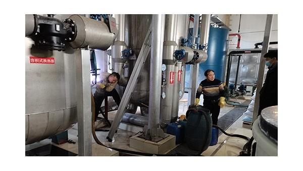 中国政法大学容积式换热器清洗